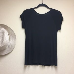 Willi Smith Tops - WILLI SMITH Size S Stretch Cap-Sleeve Top NEW NWOT